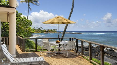 Hale Kilo Kilo at Kukuiula Bay - Oceanfront Dining & Lounging Lanai - Parrish Kauai