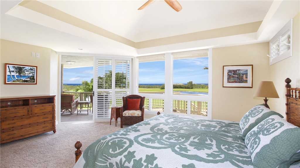 Moku Hale at Kiahuna - Ocean View Master Bedroom Suite & Lanai View - Parrish Kauai