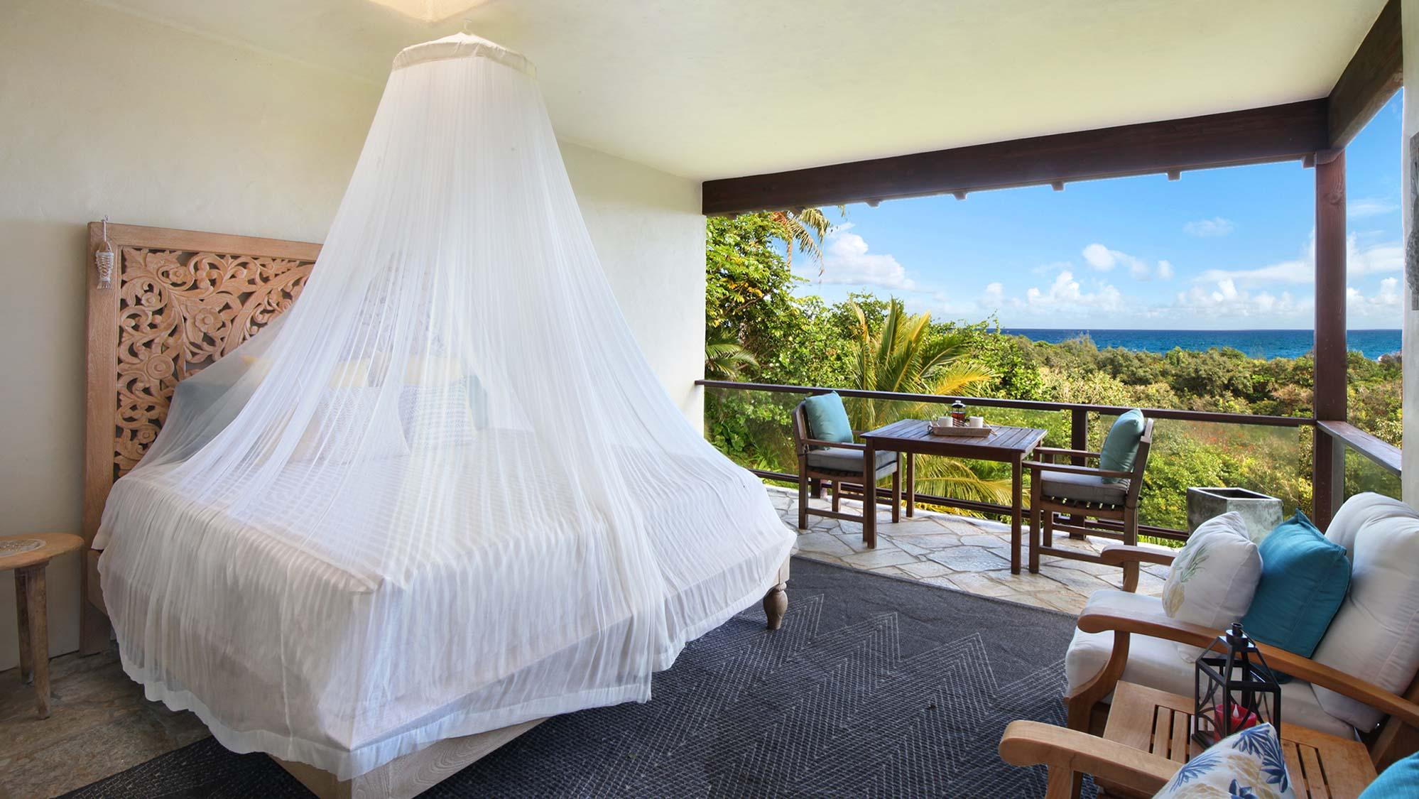 Kapiolani Villa at Princeville - Ocean View Covered Nap Nook - Parrish Kauai