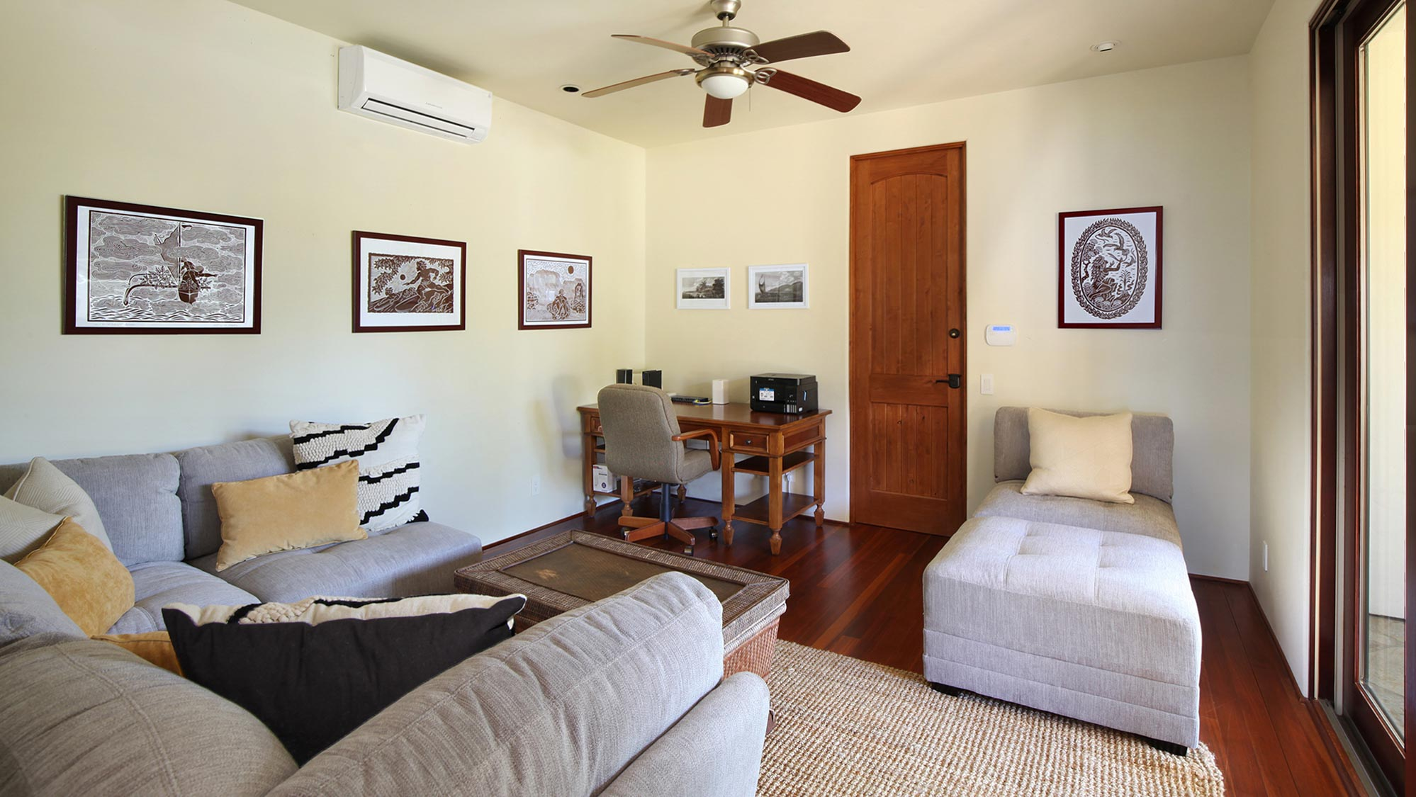 Kapiolani Villa at Princeville - Private Office & Reading Room - Parrish Kauai