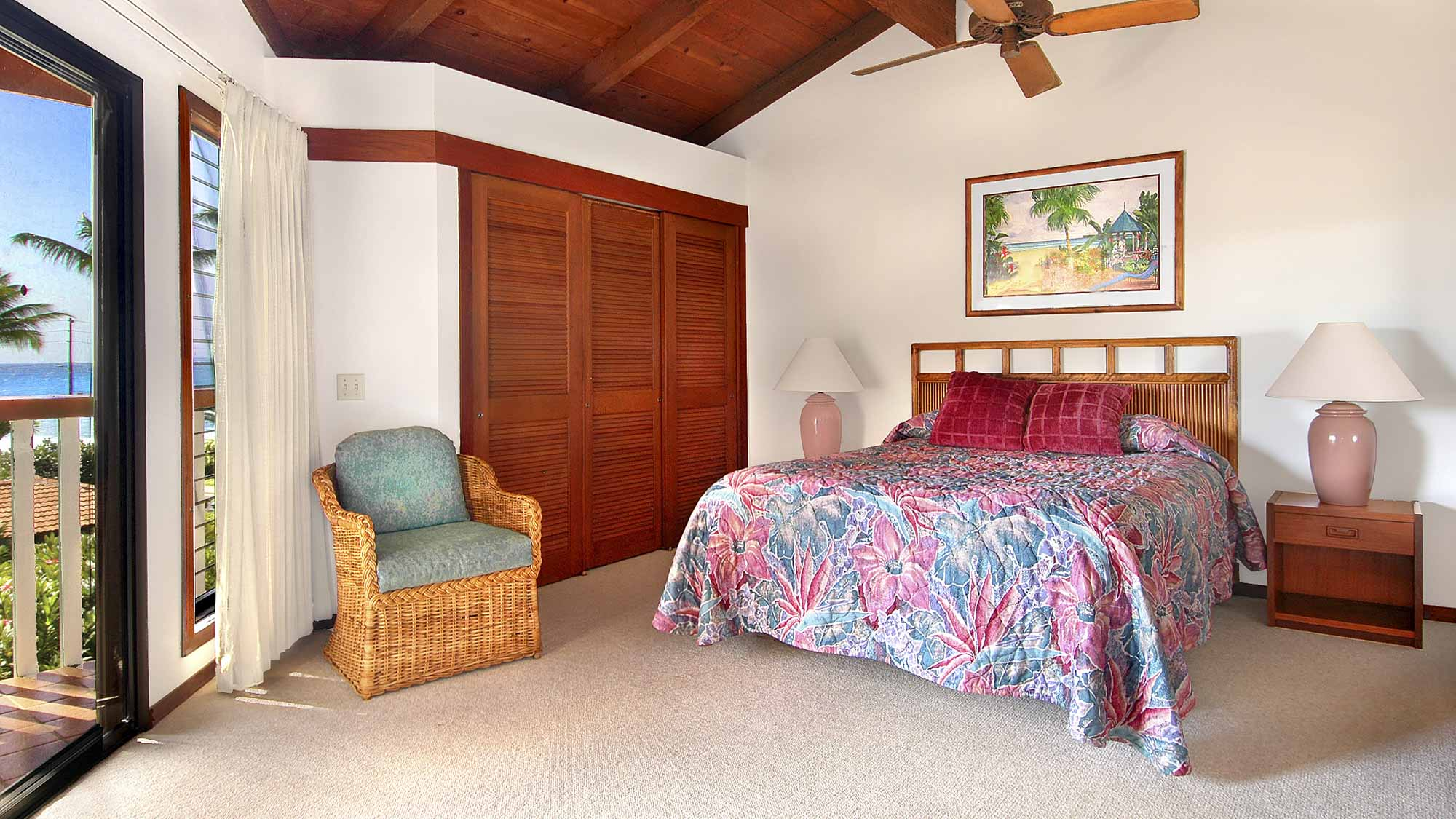 Nihi Kai Villas at Poipu #421 - Master Bedroom Suite & Lanai View - Parrish Kauai