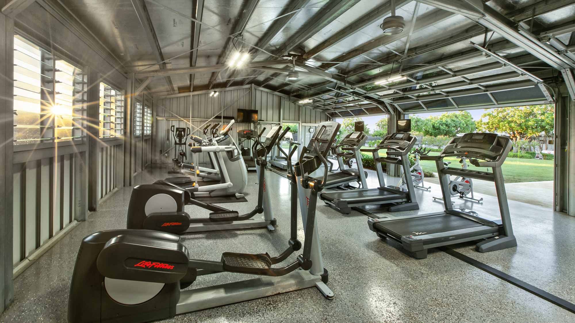 Poipu Beach Athletic Club Cardio Room - Parrish Kauai - Parrish Kauai