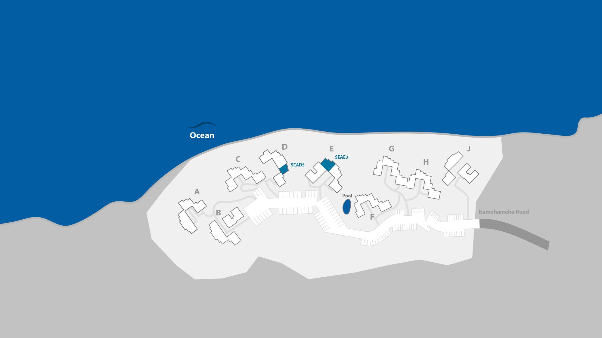 Sealodge at Princeville Resort Map - Parrish Kauai