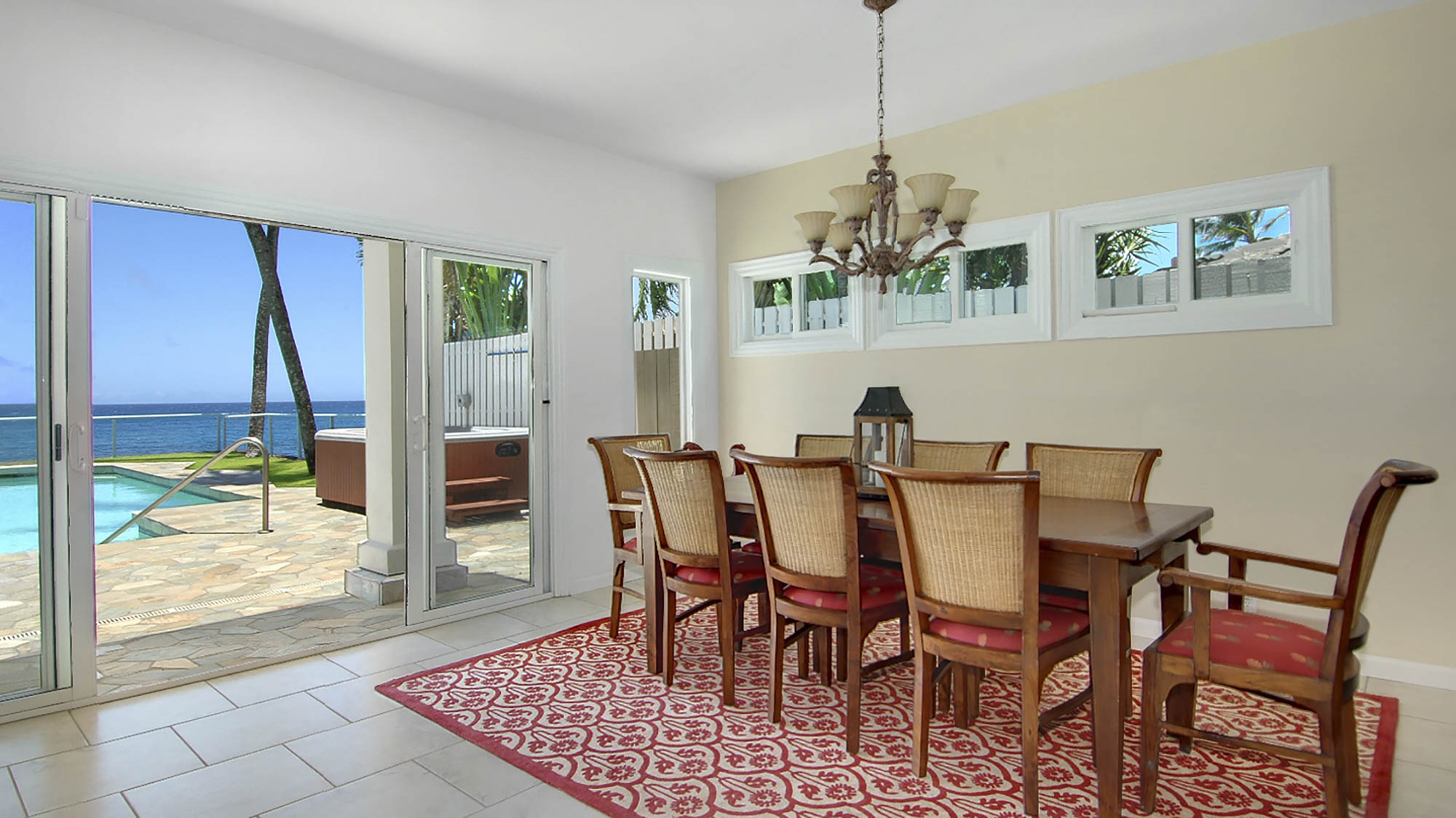 Villa Kailani at Poipu Beach - Oceanfront Dining Room - Parrish Kauai