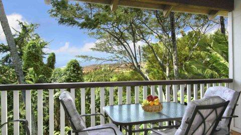 Waikomo Stream Villas #531 - Dining Lanai View - Parrish Kauai