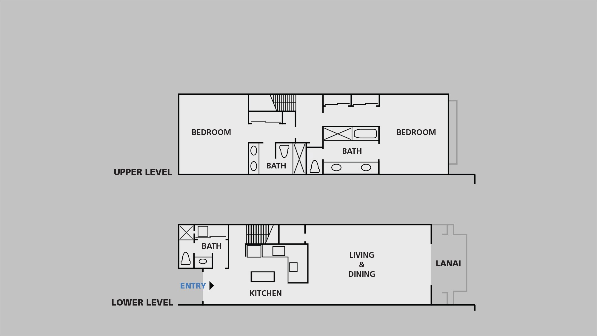 Poipu Kapili Resort Floor Plan - 2A2b