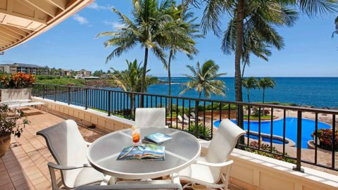 Whalers Cove at Koloa Landing #221 - Expansive Oceanfront & Pool View Lanai - Parrish Kauai
