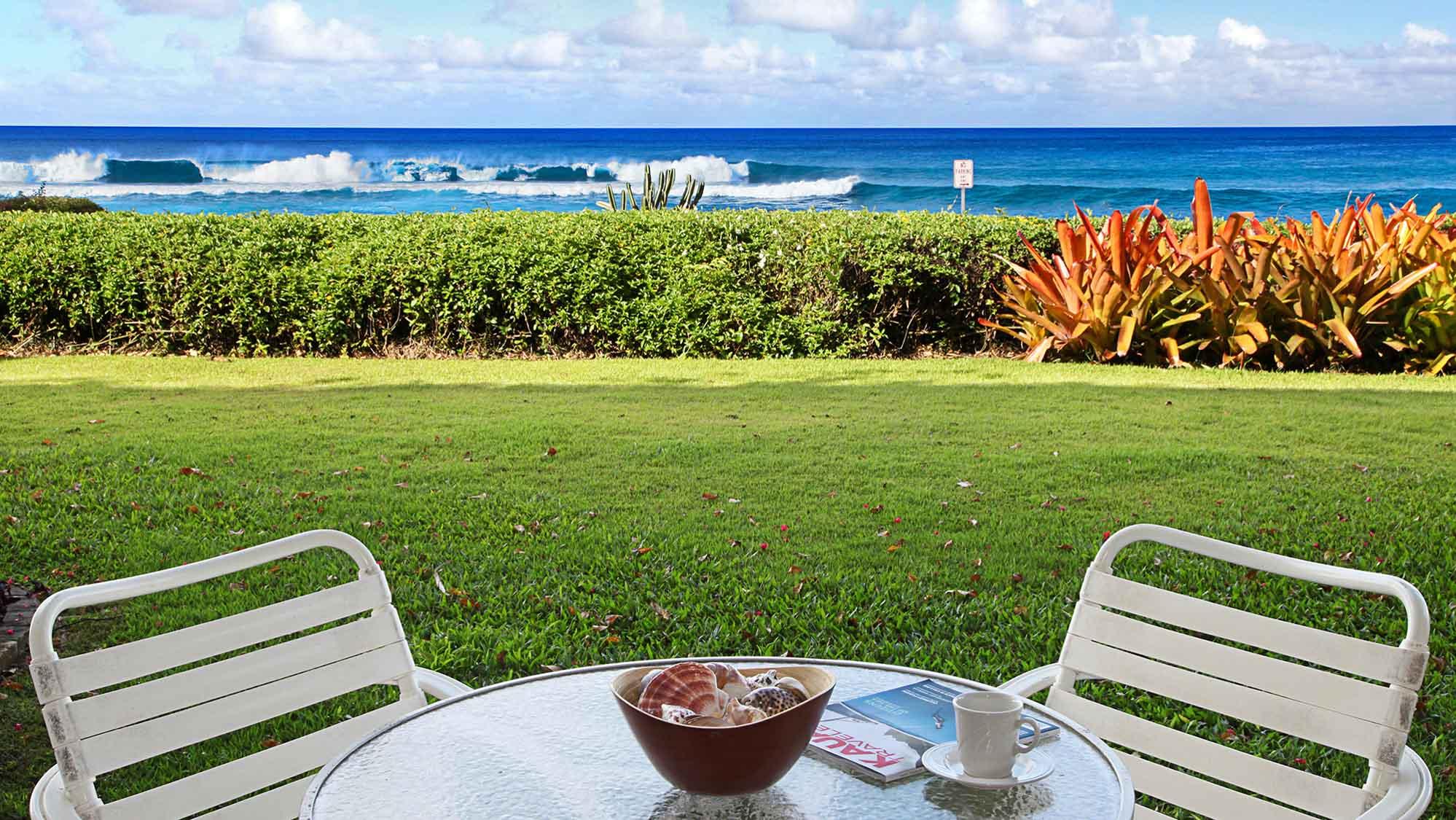 Poipu Kapili Resort #02 - Oceanfront Dining Lanai View - Parrish Kauai