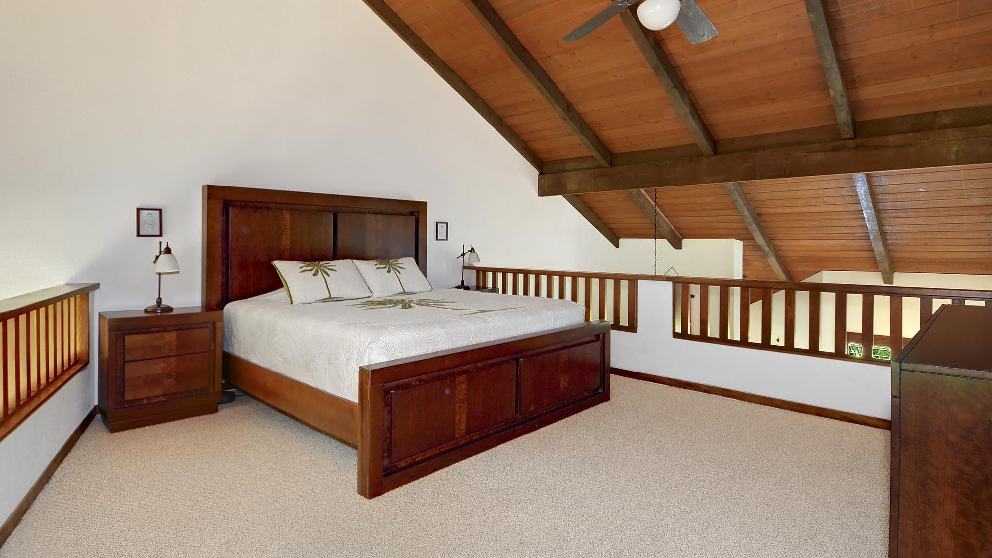 Waikomo Stream Villas #432 - Master Bedroom Suite Loft - Parrish Kauai