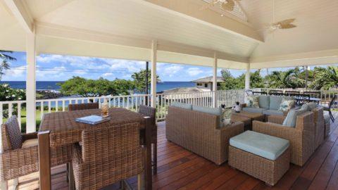 Baby Beach Hale at Poipu - Expansive Covered Lanai with View - Parrish Kauai