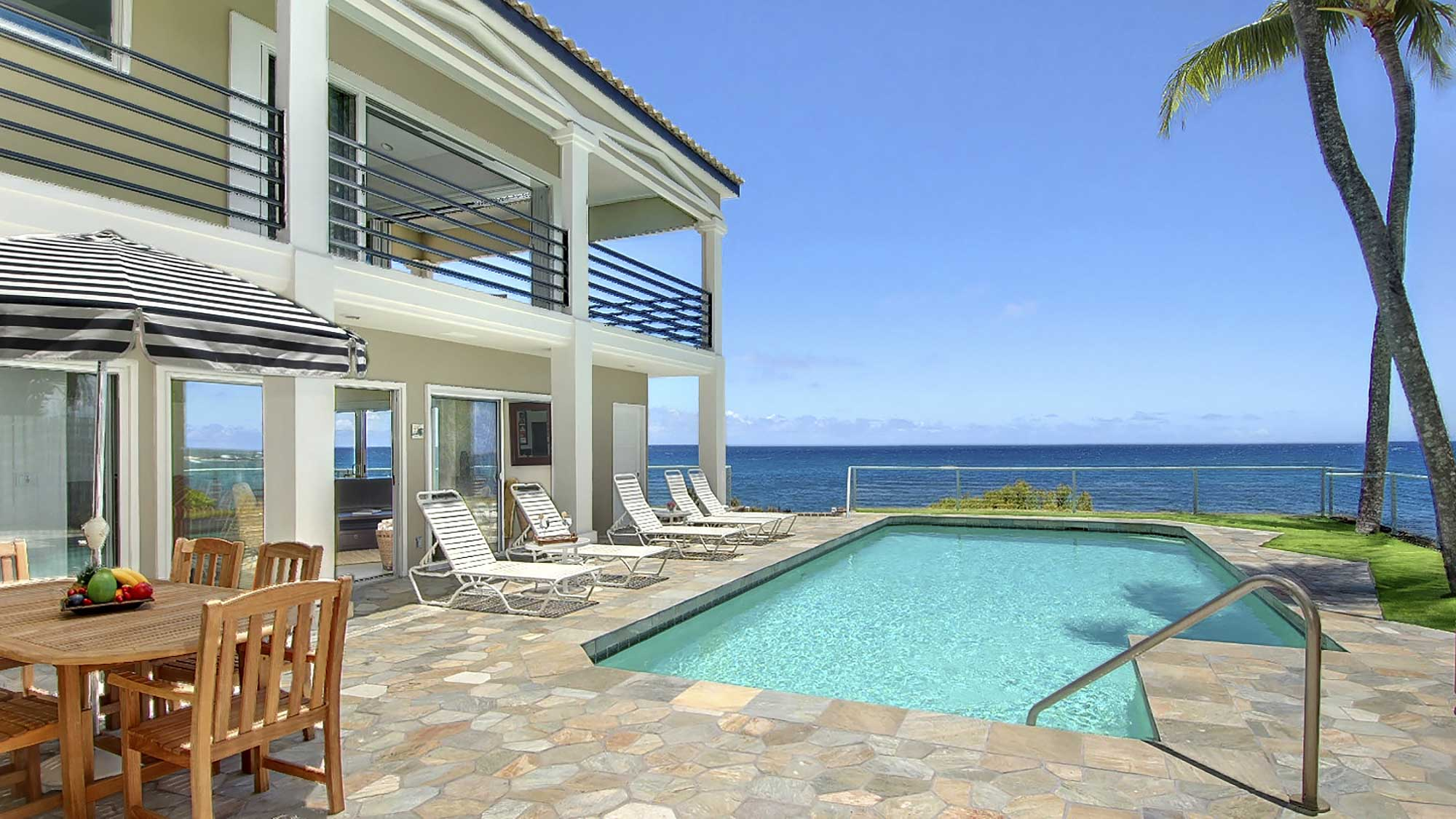 Villa Kailani at Poipu Beach - Oceanfront Pool - Parrish Kauai