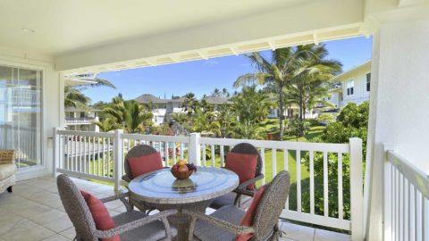 Plantation at Princeville Resort #822 - Dining Lanai Pool View - Parrish Kauai
