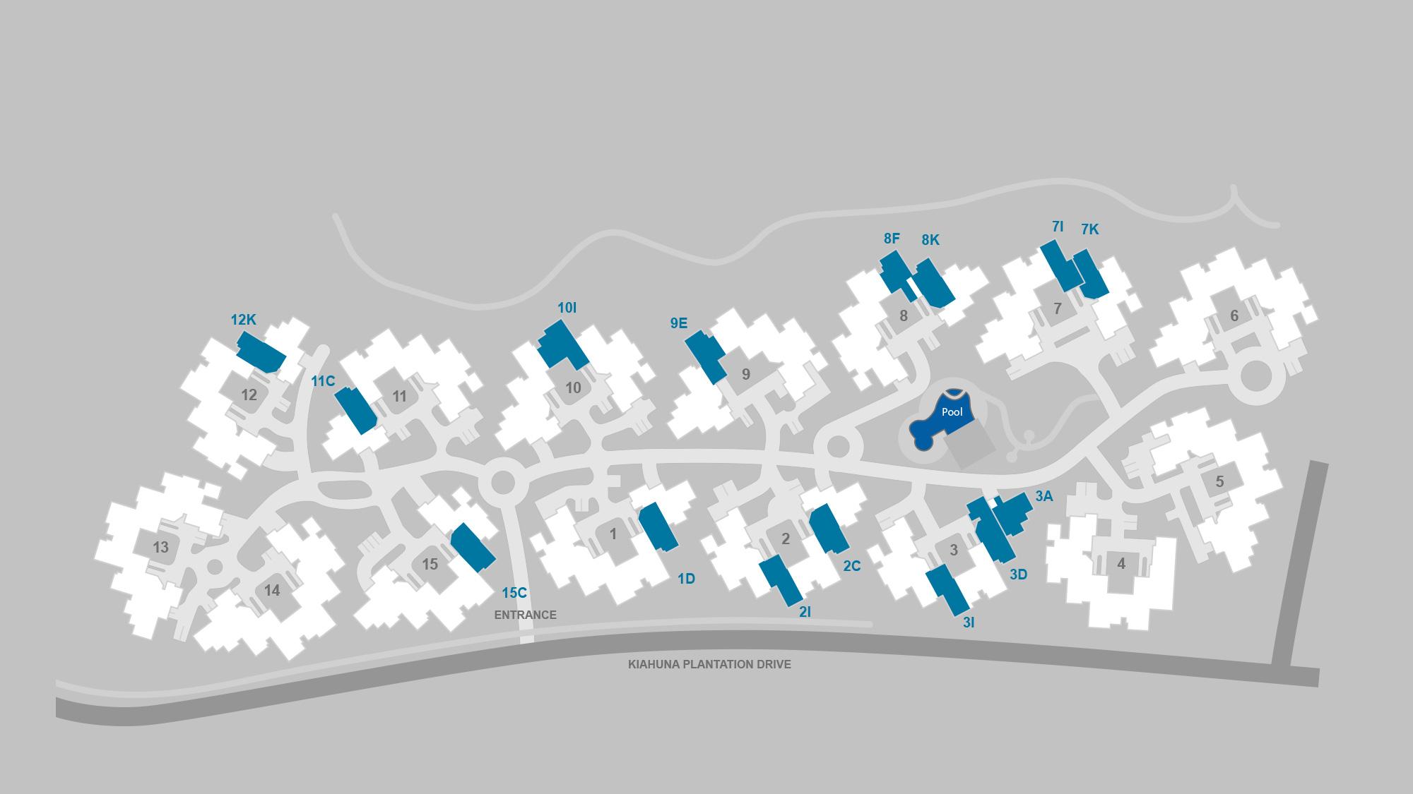 Pili Mai at Poipu Resort Map - Parrish Kauai