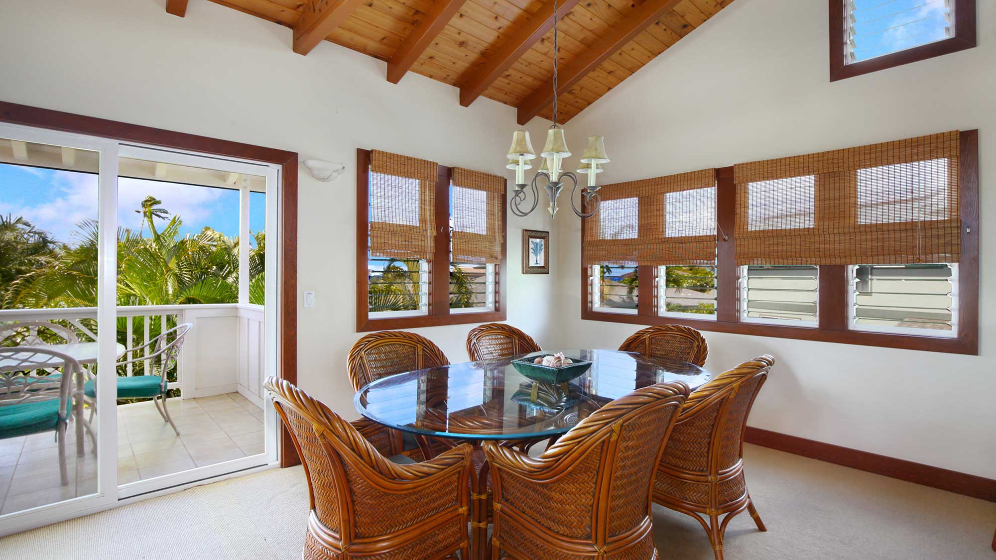 Akala Pua Cottage -Dining Room & Lanai View - Parrish Kauai